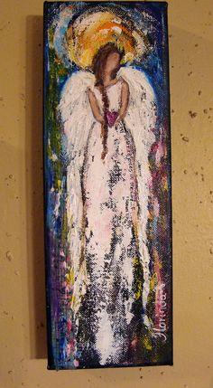 Angel Painting Scripture Art Rejoices in the Lord II by Florinda, $35.00