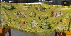 Rabbit Beatrix Potter Look, super cute custom made valance for sale with Etsy.  Use code CHACHING to receive 25% off