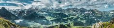 """Obwalden from Rigidalstock - View from about 2000 metres up Rigidalstock. Stitched together from 4 photos that came out of my iPhone 7 - """"The best camera is the one you have with you."""" Instagram    Twitter"""