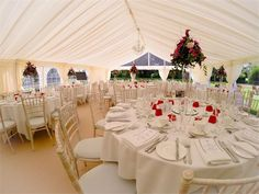 Inside the marquee - Lilleshall National Sports & Conferencing Centre Wedding Venues, Wedding Ideas, Wedding Pictures, Centre, Table Decorations, Sports, Inspiration, Image, Home Decor