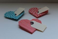 40 Origami heart placecards or favours includes gift tag £25.00