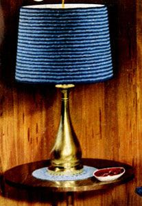 NEW! Lamp Shade Cover crochet pattern from Contemporary Crochet Throughout the Home, Coats & Clark's Book No. 508 from 1954.