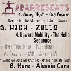 Try this week's Barre Beats playlist, to get moving!