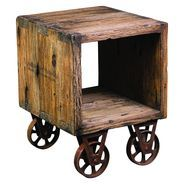 Cube Cart Side Table
