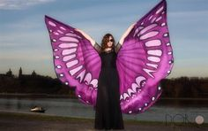 Hand painted 100% silk isis wings. Hand painted by PracowniaDor