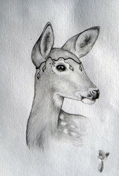 #ElementEdenArtSearch Doe a Deer A4 Graphite
