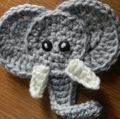 Elephant Applique - via @Craftsy