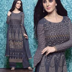 INDIA CLOSET EXCLUSIVE COLLECTION Super stylish collection of georgette/net suits with embroidery santoon pallazo bottom and chiffon dupatta Price: 3350/- inr/ 35/ 51$ Semi stiched We also take stiching orders.  Shipping worldwide. Free Delivery all over India. COD available all over India.  For enquiries pls contact 919769716775.  #indianclothes #ethnicwear #salwarkameez #sarees #anarkalis #tunics #kurtis #indianfashion #indianwear #fashion #desistyle #salwarsuit #patialasuit #indianwear…