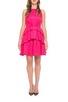 badgley mischka, robe, dress, cocktail dress, pink dress, summer dress, couture, chic, location robe, my couture corner