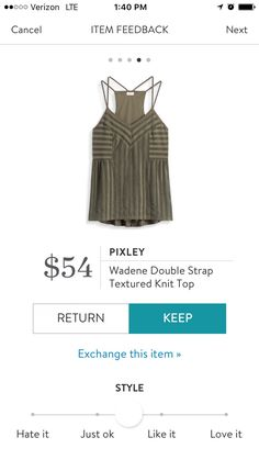 Pixley Wadene Double Strap Textured Knit Top