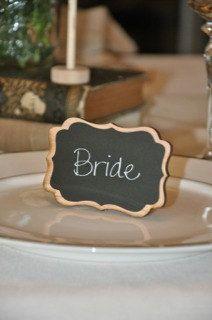 Elegant Wedding Chalkboard Table Frames by LetsTalkChalk!  $5.00 each