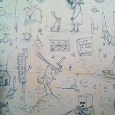 From the sketchbooks of Shaun Tan