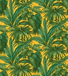 Giungle by Versace - Green - Wallpaper : Wallpaper Direct Iphone Wallpaper Tropical, Leaves Wallpaper Iphone, Plant Wallpaper, Summer Wallpaper, Green Wallpaper, Cellphone Wallpaper, Aesthetic Iphone Wallpaper, Cool Wallpaper, Pattern Wallpaper