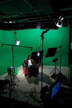 Ray J on set at Loyal Studios