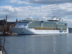 Oslo is a popular cruise ship stop. This is Independence of the Seas