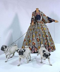 """""""Leisure Lady with pugs"""", 2001"""