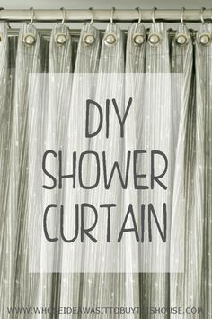 I Wanted A Long Shower Curtain In A Fabric That Went With The Rest Of My  Bathroom, So I Figured Out How To Make A Custom Shower Curtain ...