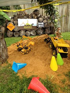 Dump Truck and Construction boy birthday party... Cool idea!!