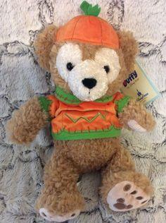 DUFFY the Disney Bear Halloween Plush Pumpkin Trick or Treat Parks NWT New