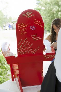 Adirondack Chair Guest Book