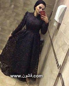 فساتين للمحجبات حديثة شيك وأنيقة Hijab Dress Party Fashion Dress Party Soiree Dress