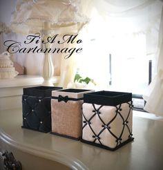 Bathroom Box, Scrapbook, Hamper, Diy And Crafts, Creations, Organization, Home Decor, Cartonnage, Jars