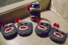 sock monkey cozies
