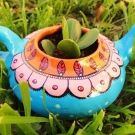 Pava Marencoche Painted Flower Pots, Painted Pots, Ceramic Pots, Clay Pots, Mexican Flowers, Pottery Pots, Mexican Home Decor, Pot Jardin, Cactus Flower