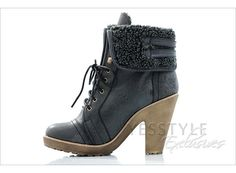 fold over lace up ankle boots $46.40