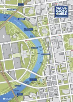 Scioto Mile Map