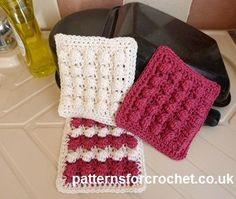 Free crochet pattern for cotton scrubby http://www.patternsforcrochet.co.uk/scrubby-usa.html #patternsforcrochet
