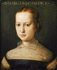 Angnolo Bronzino, Agnolo di Cosimo, (Italian Mannerist artist, 1503-1572)   Isabella Medici 1565