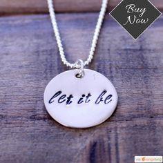 Hand Stamped Let it Be Beatles Necklace #handmadejewelry   #etsy #etsyseller #etsyshop #etsylove #etsyfinds #etsygifts #musthave #instacool #shop #shopping #onlineshopping #instashop #loveit #instafollow #photooftheday #picoftheday #love #OTstores #smallbiz #instagood
