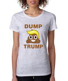 Dump Trump 2016 elections emoji womens t-shirt