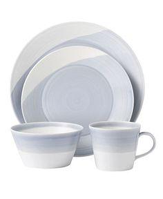 Royal Doulton Dinnerware, 1815 Blue Collection - porcelain, $40 per 4 piece set