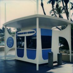 Disneyland New Tomorrowland Ticket Booth, 1967. Imagineer Rolly Crump's classic design. | Miehana, via Flickr