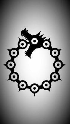 Seven Deadly Sins Symbols, Seven Deadly Sins Anime, 7 Deadly Sins, Seven Deadly Sins Tattoo, Otaku Anime, Manga Anime, Anime Art, Naruto Wallpaper, Iphone Wallpaper
