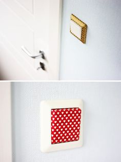Washi Tape Crafts - Washi Tape Light Switch - Wall Art, Frames, Cards, Pencils, Room Decor and DIY Gifts, Back To School Supplies - Creative, Fun Craft Ideas for Teens, Tweens and Teenagers - Step by Step Tutorials and Instructions http://diyprojectsforteens.com/washi-tape-crafts