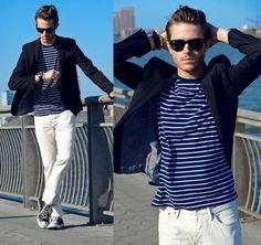 Men's Stripe Tshirts - Trendy Key