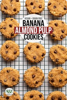 These fluffy Banana Almond Pulp cookies are a healthy and yummy way to use up your leftover nut pulp after making almond milk Vegan Grain-Free vegan bananacookies almondpulp grainfree plantbased Vegan Sweets, Vegan Desserts, Milk Recipes, Vegan Recipes, Coconut Flour Cookies, Cookies Vegan, Almond Pulp, Almond Meal, Pulp Recipe