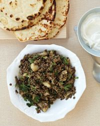 Eggplant Lentil Salad: Ideas for the massive pot of lentils I cooked last night ;)