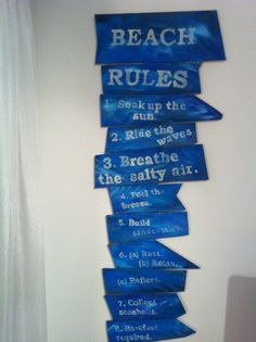 The Beach Rules Shabby chic Beach Rules, Sea Shells, Shabby Chic, Relax, Homemade, Home Made, Shells, Seashells, Hand Made