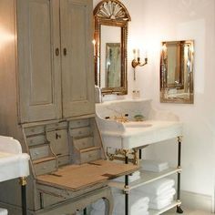 must have this sink! Calcutta Marble Sink Vanity.