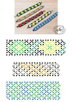 Bead Crochet Patterns, Beading Patterns Free, Beading Tutorials, Seed Bead Flowers, Beaded Flowers, Beaded Necklace Patterns, Bead Loom Bracelets, Handmade Beaded Jewelry, Loom Beading
