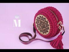 Popcorn Model Macarons Bag Making – Knitting And We Diy Crochet Bag, Crochet Bag Tutorials, Crochet Videos, Crochet Crafts, Crochet Yarn, Crochet Stitches, Crochet Handbags, Crochet Purses, Yarn Bag