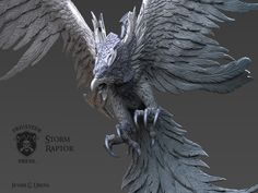 Storm Raptor, Javier Ureña on ArtStation at https://www.artstation.com/artwork/a1ye8