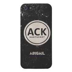 Vintage ACK Nantucket MA Beach Tag iPhone 5 Case