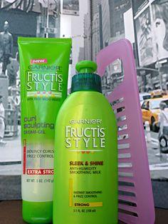 Garnier Fructis curl sculpting cream gel & smoothing milk