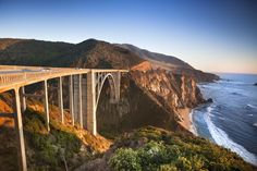 The Pacific Coast Highway provides some of the most scenic views of the jagged cliffs and stunning ocean along this 90-mile stretch of land. Many peopletake in these sights by road trip, stopping the see the purple sand atPfeiffer Beach and staying in a yurt along the way.