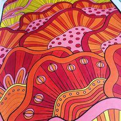 "Mental Images Coloring Books (@paivivesala_art) on Instagram: ""Flower Power! 🌸⚡️Can you feel the energy? Book: Mental Images vol 2 colouring book by Päivi Vesala…"""